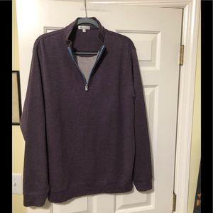 Peter Millar designer sweater with zip neck L